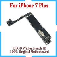 usine libre d'iphone achat en gros de-Pour iPhone 7 Plus 5.5inch Original Carte mère 128GB Usine Mainboard Déverrouillé Pas de Touch ID IOS Update Support Livraison gratuite