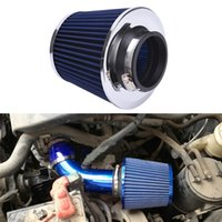 filtros de ar de corrida venda por atacado-Para Turbo Racing - Harbll Filtro de Ar Automóvel Automóvel Limpo de filtro de entrada de ar frio Adaptador de funil dupla de 3