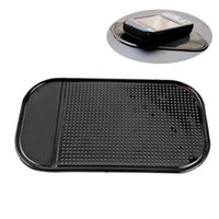 автомобильные панели оптовых-3 шт./лот горячие продажа черный пластик пены нескользящей тире мат наклейка тире силиконовый коврик автомобиля приборной панели липкие Pad для телефона GPS #HP