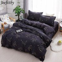 Wholesale new textile sheets for sale - Group buy Jeefttby Home Textiles New Black Night Sky Bed Linen Kid Adult Teen Boy Bedding Sets Duvet Cover Pillowcase Sheet