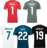 Wholesale Cheap Red Sweaters - Best Quality Cheap Camiseta de futbol real de madrid 2018 Goalkeeper NAVAS Soccer Jerseys equipment football madird sweater free shipping