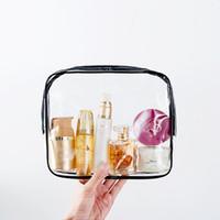 Wholesale making clear plastic - Travel bag toiletries bag men's make-up bag women waterproof transparent portable
