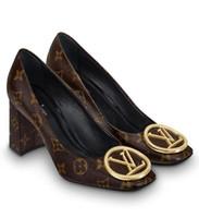 старый насос оптовых-2019 1A4EN1 MADELEINE PUMP 7.5 см. НОВЫЕ СТАРЫЕ ЦВЕТЫ КОРИЧНЕВЫЕ Женщины Высокие каблуки ЛОЛИТА НАСОСЫ ОБУВЬ СНИКЕРСЫ Классическая обувь