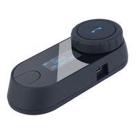 gegensprechanlage für helm großhandel-Aktualisiert BT Bluetooth Motorrad Motorrad Helm Intercom Interphone Headset mit LCD-Bildschirm + FM-Radio für iPhone Samsung