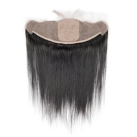 Wholesale malaysian straight silk base closures for sale - Group buy Brazilian Straight Hair x4 Ear To Ear Pre Plucked Silk Base Lace Frontal Closure With Baby Hair Remy Human Hair Free Part