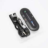 Wholesale sun solar car for sale - Sun Visor Bluetooth Speakerphone MP3 Music Player Wireless Bluetooth Transmitter Handsfree Car Kit Bluetooth Receiver Speaker Car Charger