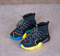 Wholesale wholesale children shoes online - Boys sneaker INS girls hollow breathabler ankler athletic shoes fashion new children lace up Bows backetball shoe kids shoes Y4528