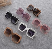 óculos de sol de criança de qualidade venda por atacado-Alta qualidade óculos de sol esportes das crianças das crianças das meninas diamante strass borda estilo uv400 cute pricness óculos de sol para 2-10t 622