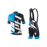 pantalones cortos acolchados al por mayor-nuevo llega 2018 jersey de ciclismo conjunto jersey de ciclismo de manga corta con babero acolchado pantalones Ultra transpirable desgaste de la bici