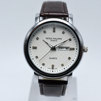 Wholesale glass top display - Hot Sale high quality Date day dual display waterproof watch aaa top brand watches Men's Quartz watches Man luxury brand Wrist Watch