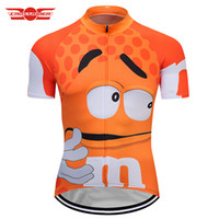 Wholesale ms wear - Crossrider 2018 M&Ms Funny cycling jersey Mtb Shirt Bicycle Clothing Bike Wear Clothes Short Maillot Hombre Verano