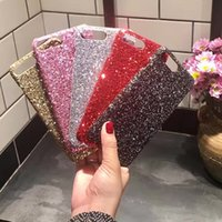 Wholesale Pink Flicker - Flicker sequins phone shell for iphoneX iPhone 5 6 6S 7 7s material mobile phone shell