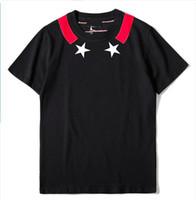 мужская роскошная футболка оптовых-GY Летняя Футболка Для Мужчин Топы с Фирменными Буквами Дизайнерские Рубашки Роскошные Футболки С Коротким Рукавом Бренд Mens Clothing Tee S-XL