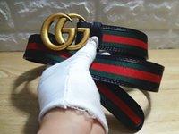 g ceintures hommes achat en gros de-Top qualité ceinture 2018 designer de marque de mode en cuir véritable G buckel ceinture hommes et femmes de luxe Grandes ceintures boucle livraison gratuite