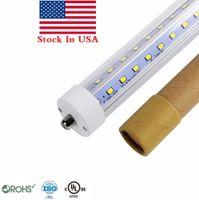Wholesale fcc led bulbs resale online - T8 ft LED Tubes Light Single Pin FA8 ft LED Bulbs W W V Shaped LED Light Tubes AC V Stock In USA