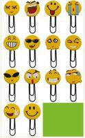 Wholesale free office supplies resale online - Top Quality Smiley large paper clip Bookmark Cartoon PVC Soft Glue Bookmark Student Office Supplies Random Color Send Free DHL H588Q