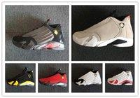 botas de deserto dos homens venda por atacado-14 Último Tiro 14s DESERT SAND homens tênis de basquete 14s BLACK TOE mens calçados esportivos botas tênis atletismo com caixa livre shippment calçado