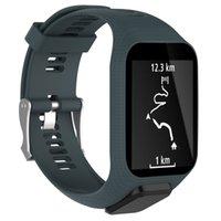 pulsera gps al por mayor-Accesorios inteligentes reemplazo de silicona banda Correa para la muñeca para TomTom Spark / 3 Deporte GPS inteligente pulsera de reloj de la aptitud