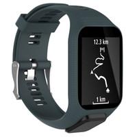 браслет gps запястье оптовых-Smart Accessories  Replacement Silicone Wrist Band Strap For TomTom Spark / 3 Sport GPS Smart Watch Fitness Bracelet