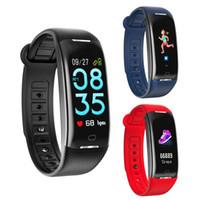 экранные устройства оптовых-0.96inch TFT LCD цветной экран водонепроницаемый Heart Rate Monitor сна Смарт Фитнес Tracker Браслет Переносные устройства нарукавье