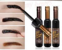 Wholesale red eye tattoo - NOVO Red Wine Eyebrow Gel Tattoo Tint Eye Makeup Long-lasting Waterproof Dye Eyebrow Cream Maquillage 3 Colors