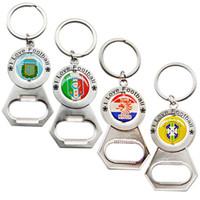 Wholesale I Love Football - 2018 Russia World Cup I Love Football Theme Keychain Bottle Opener Design Practical Key Ring National Team Keys Charm 5 5yn Z