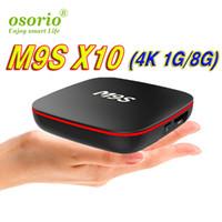 meilleures ventes de télévision achat en gros de-Usine Vente Meilleur M9S X10 Smart Set Top Box Android 7.1 TV Box IPTV RK3229 Quad Core 1 GB + 8 GB Meilleur MXQ Pro 4 K S905W S912