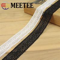 Wholesale White Lace Trim Fabric - 10Yards 34mm Black White Stretch Lace DIY Garment Accessories Fabric Wholesale about 3.4cm Wide