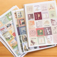 Wholesale Diary For Girls - 80pcs bag DIY Retro Stamp Kawaii Girl Alice Prince Scenery Paper Vintage Stickers for Diary Notebook Scrapbooking Diary Planner