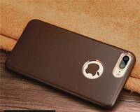 nuevos casos móviles al por mayor-B08 Funda de teléfono móvil de cuero real para iPhone8 más nuevo negocio de cuero de lujo