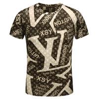 Wholesale poplin top - New Fashion Designer Luxury Brand For Men T-shirt 2018 Spring Summer 3D Eyes Letter Print Tshirt Women Tee Casual Cotton Top Shirt