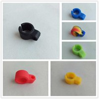 Wholesale Ring Cigarette Holder - Silicone Smoking Cigarette holder Tobacco Joint Holder Ring regular size Smoking Tools accessories Gift For Man Women Pipes 9color 20pcs lot
