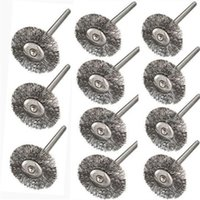 10pcs Steel Wire Wheel Brushes Cup Rust Dremel Accessories Rotary Tool Dremel Electric Tool for the engraver abrasive materials