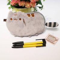 Wholesale coin purse online - Girls Women Cute Cat Soft Plush Stuffed Toys Coins Purse Bags Wallet cm Plush Purse Cat Stuffed Coin Purse BBA173