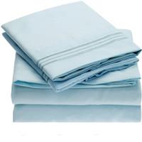 sábanas de microfibra al por mayor-Juego de sábanas para cama Microfibra cepillada 1800 Ropa de cama Antiarrugas Antimanchas Hipoalergénico