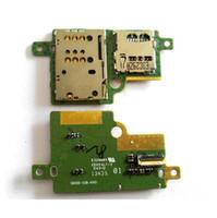 lector de tarjetas lenovo al por mayor-Tablero original del lector de tarjetas SIM Micro SD para Lenovo IdeaTab pad S6000 s6000h Tarjeta de memoria SIM Placa de conexión de reemplazo de la placa
