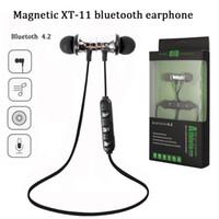 iphone bluetooth headphones preço venda por atacado-Preço de fábrica XT11 sem fio bluetooth 4.1 inear fone de ouvido magnético fone de ouvido estéreo esportes com microfone embutido para iphone x samsung s8 s9 plus