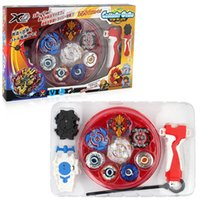 Wholesale beyblade led - 4pcs set Beyblade Burst Metal Funsion Fidget Spinner Box&Launcher Spinning Fighting Gyro Led Spinner Zeno Excalibur beyblade Xmas Gifts