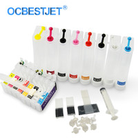 lápiz de impresora al por mayor-T0961-T0968 Sistema de suministro continuo de tinta para impresora Stylus Photo R2880 2880 T0961 Cartucho de tinta CISS 8 colores / juego