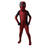 deadpool costume venda por atacado-Vingadores: Infinito War kid Deadpool Costume com Máscara Spandex Deadpool Traje Cosplay Superhero fantasia infantil cosplay