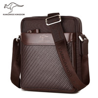 bolso mensajero del mens de la vendimia pequeña al por mayor-Kangaroo Kingdom Fashion Vintage Men Bag Oxford Brand Mens Messenger Bags Pequeño bandolera Crossbody