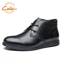 продажа спортивной обуви оптовых-CELE  Hot Sale Men Shoes Genuine Leather Men Casual Shoes Business Boots British Style Lightweight And Soft Footwear