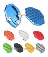 Wholesale Motorcycle Kickstands - Aluminum CNC Motorcycle Side Stand Plate Kickstand Extension Pad Fit For KAWASAKI VERSYS 650 KLX250
