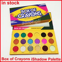 Wholesale matte color eyeshadow palette - 2018 BOX OF CRAYONS Eyeshadow iShadow Palette 18 Color Shimmer Matte Eyeshadow Palette Makeup Eye shadow free DHL