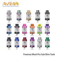 atomizador de doble tanque al por mayor-Freemax Mesh Pro Subohm Tank Atomizer 5ml Doble Triple Mesh Coil Sub Ohm Tank con Extra 6ml Tubo de vidrio 100% Original