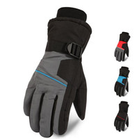 Wholesale snow gloves men resale online - Winter Warm Mountain Snowboard Ski Gloves Men Thermal Fleece Cold Snow Gloves Skiing Mittens Waterproof Snowmobile Riding Bicycle Gloves