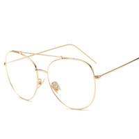 ayna gözlük okuması toptan satış-Büyük Yurt Düz Bardaklar Kadın Erkek Gözlük 2017 Vintage Yeni Moda Transparente Ayna Okuma Gözlükleri Lunette Gafas De Lectura