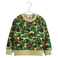 verde dos hoodies da menina venda por atacado-Famoso Macaco Logotipo Bebê Menina Menina Camisola Mangas Compridas Com Capuz Pullovers Para Crianças Primavera Outono Moda Verde Tops Casaco