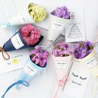 Wholesale Dried Flowers Bouquet - Handmade Flower Bouquet Mini Bouquet Birthday gift 2018 new small fresh Christmas gifts ins photo props wholesale