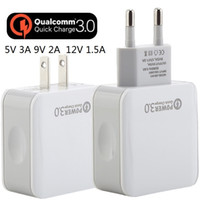 Wholesale tablet 3a for sale - For Samsung s7 s8 Fast Quick QC3 US EU Ac home wall charger V A Power adapter for iphone X tablet pc